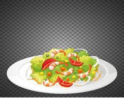 gesunder Salat isoliert vektor