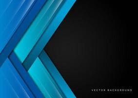 abstraktes Schablonendesign mit blauen Elementen