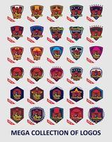 Sammlung von Kamera-Logo-Vorlagen vektor