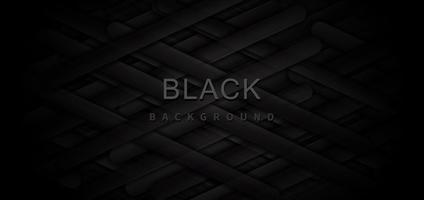 abstraktes Banner mit schwarzen und grauen geometrischen Elementen