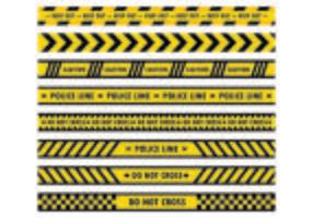Gefahr Band Vektoren