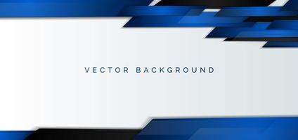 abstrakt företags banner med blå och svarta element