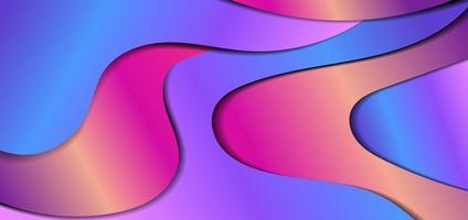 abstrakt flytande gradient dynamisk form