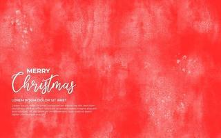 roter Aquarellhintergrund für Weihnachten vektor