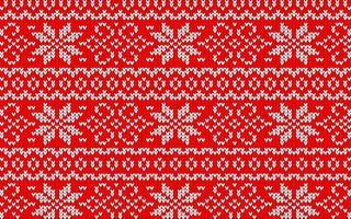 jaquardmönster till jul med snöflingor