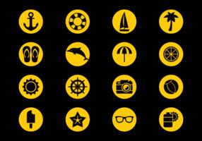Playa Icons Vektor