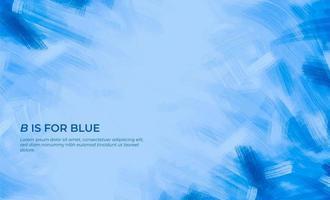 blauer Pinselstrich Hintergrund vektor