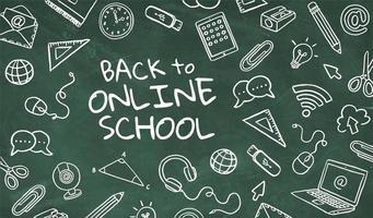 tillbaka till online skolkoncept