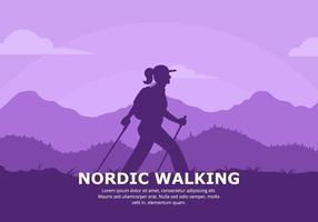 Nordic-Walking-Hintergrund vektor