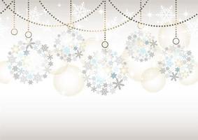 sömlös abstrakt bakgrund med julbollprydnader på en grå bakgrund.