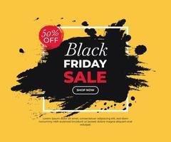 färgglad målad banner för svart fredag