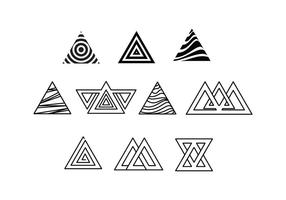 Fria Prisma Triangle Vektorer