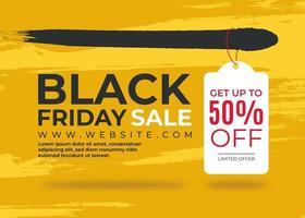 svart fredag banner med etikett