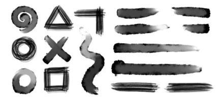 Sammlung von Grunge-Pinselstrichen vektor