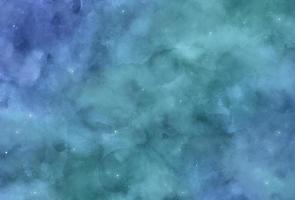 türkisfarbener Galaxienhintergrund vektor