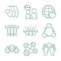 Symbol für Liebe und Beziehungsunterstützung vektor