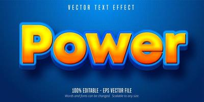 bearbeitbarer Texteffekt der orangefarbenen Farbverlaufskarikaturart vektor