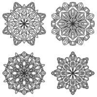 Schwarz-Weiß-Mandala-Set vektor