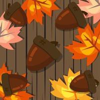 Hintergrundthema des Herbstthemas
