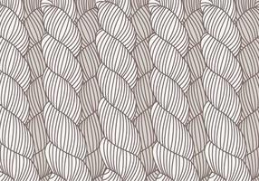 Hand Drawn Plait mönster vektor