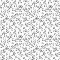 niedliches minimalistisches monoline skandinavisches nahtloses Muster vektor