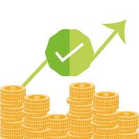 betalning och ekonomi sammansättning med guldmynt