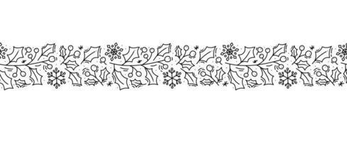 Skandinavisches nahtloses Muster der Weihnachtsmonoline