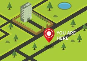 Freie isometrischen Sie befinden sich hier Karte Vector