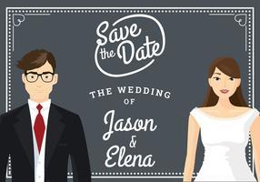 Freie Hochzeit Vorlage Illustration Vektor