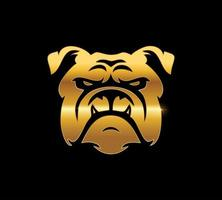 goldenes Bulldoggenzeichen