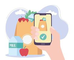 Online-Lieferservice für Lebensmittel