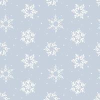 nahtloses Muster der Weihnachtsschneeflocke vektor