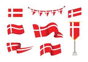 Dänische Flagge Vektor