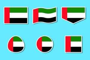 United Arab Emirates National Day Flag Aufkleber Set
