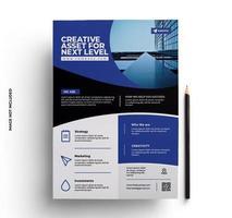 företags broschyr flygblad skriva ut färdig design