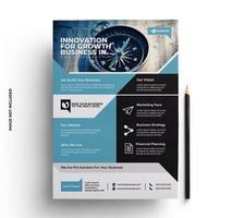 multifunktionell företags flygbladdesign