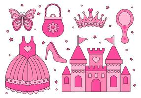 Freie Prinzessin Element Sammlung Vektor
