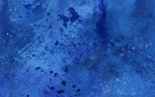 blaue Aquarellflecken und Tropfen vektor