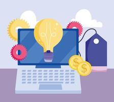 Online-Zahlung und E-Commerce-Zusammensetzung vektor