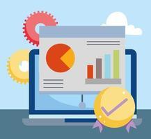 Online-Markt und E-Commerce-Zusammensetzung vektor