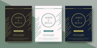 Hochzeitseinladung mit eleganten abstrakten Linien