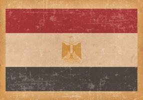 Flagge von Ägypten auf Grunge Hintergrund vektor