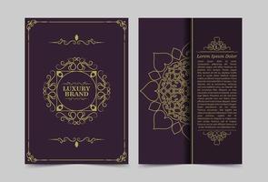 lyxiga vintage utsmyckade omslag i orientalisk stil vektor
