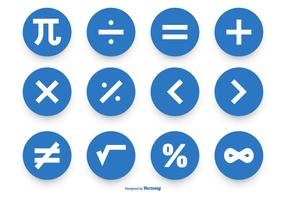 Math Symbol Vector Icon Collection