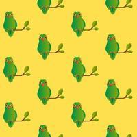 nahtloses Liebesvogelmuster auf Gelb