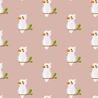 nahtloses Papageienvogelmuster auf Pastell