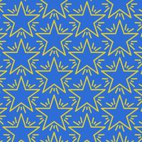 nahtloses Sternmuster auf Blau vektor