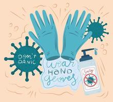Coronavirus neue normale Handschuhzusammensetzung