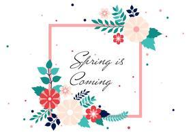 Free Spring Vector Hintergrund