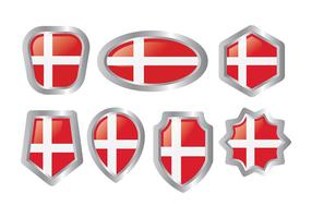 Gratis danska flaggikoner vektor